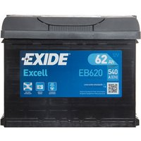 Exide Excell Battery 027 62AH 540CCA