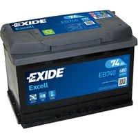 Exide Excel Battery 096 74AH 680CCA