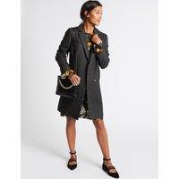 Faux Leather Chain Shoulder Bag black