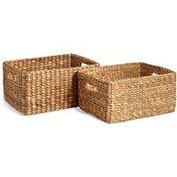 Water Hyacinth Set of 2 Storage Baskets