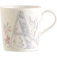 Floral Alphabet A Mug