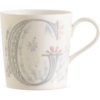 Floral Alphabet G Mug