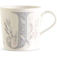 Floral Alphabet J Mug