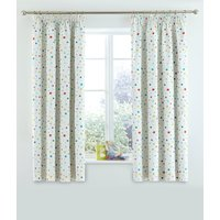 Star Print Pencil Pleat Curtains