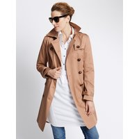M&S Collection Pure Cotton Trench Coat with Stormwear
