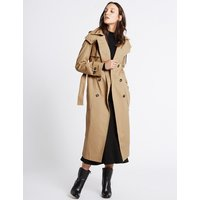 M&S Collection Cotton Rich Trench Coat with Stormwear