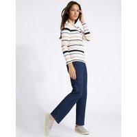 Classic Mid Rise Straight Leg Jeans