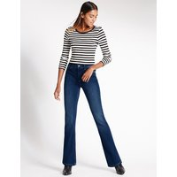 M&S Collection Mid Rise Bootcut Jeans