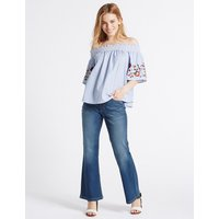 M&S Collection PETITE Slim Bootcut Jeans