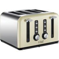 RUSSELL HOBBS Windsor 22830 4-Slice Toaster - Cream, Cream