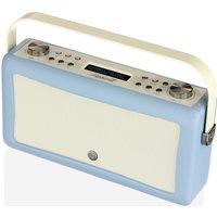 VQ Hepburn Mk II Portable DAB Bluetooth Clock Radio - Blue, Blue