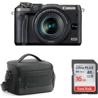 CANON CANON EOS M6 Mirrorless Camera with Accessory Bundle