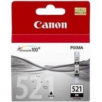 CANON CLI-521 Black Ink Cartridge, Black
