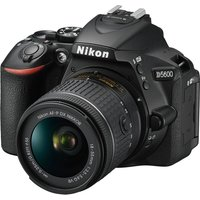 NIKON D5600 DSLR Camera with 18-55 mm f/3.5-5.6 Standard Zoom Lens - Black, Black