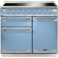 RANGEMASTER  Elise 100 Electric Induction Range Cooker   China Blue   Chrome  Blue