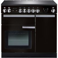 RANGEMASTER Professional 90 Electric Induction Range Cooker - Black & Chrome, Black