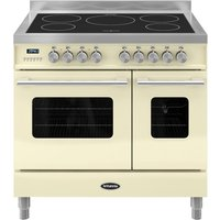 BRITANNIA Delphi 90 RC9TIDECR Electric Induction Range Cooker - Gloss Cream & Stainless Steel, Stainless Steel
