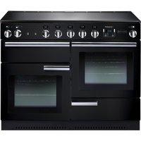 RANGEMASTER Professional 110 Electric Induction Range Cooker - Black & Chrome, Black