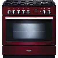 RANGEMASTER  Professional FXP 90 Dual Fuel Range Cooker   Cranberry   Chrome  Cranberry