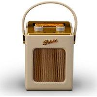 ROBERTS Revival Mini Portable DAB Radio - Pastel Cream & Gold, Cream