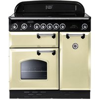 RANGEMASTER  Classic 90 Electric Ceramic Range Cooker   Cream   Chrome  Cream