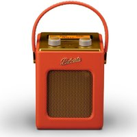 ROBERTS Revival Mini Portable DAB Radio - Sunburst Orange & Gold, Orange