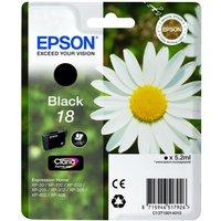 EPSON Daisy T1801 Black Ink Cartridge, Black
