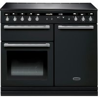 RANGEMASTER Hi-LITE 100 Electric Induction Range Cooker - Black & Chrome, Black