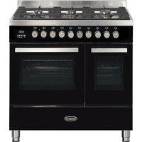BRITANNIA Sonetto 90DF TC Dual Fuel Range Cooker - Black & Stainless Steel, Stainless Steel