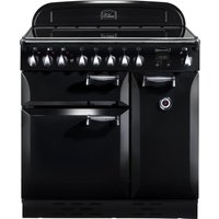 RANGEMASTER  Elan 90 Electric Ceramic Range Cooker   Black   Chrome  Black