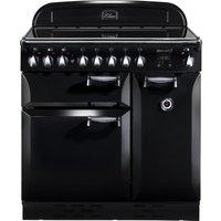 RANGEMASTER  Elan 90 Electric Ceramic Range Cooker   Black   Chrome  Black
