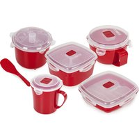 TOWER Microwave Safe 5-piece Food Storage Set - Red, Red