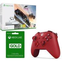 MICROSOFT Xbox One S, Forza Horizon 3, 3 Month Xbox LIVE Gold Membership & Controller Bundle, Gold