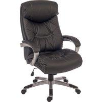 TEKNIK Siesta 6916 Leather Reclining Executive Chair - Black, Black