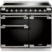 RANGEMASTER  Elise 100 Electric Induction Range Cooker   Black   Chrome  Black