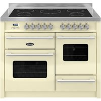 BRITANNIA Delphi 110 XG Electric Induction Range Cooker - Gloss Cream & Stainless Steel, Stainless Steel
