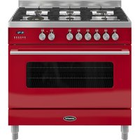 BRITANNIA RC9SGDERED Delphi 90 Dual Fuel Range Cooker - Red, Red