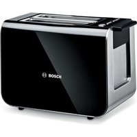 BOSCH Styline TAT8613GB 2-Slice Toaster - Black, Black