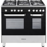 KENWOOD  CK405 Dual Fuel Range Cooker   Black  Black