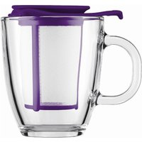 BODUM Yo Yo Mug & Tea Strainer Set - Purple, Purple