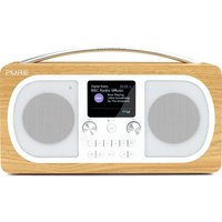 PURE Evoke H6 Portable DAB Bluetooth Clock Radio - Oak