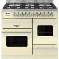 BRITANNIA Delphi 100 XG RC10XGGDECR Dual Fuel Range Cooker - Gloss Cream & Stainless Steel, Stainless Steel