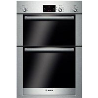BOSCH Exxcel HBM13B550B Electric Double Oven - Brushed Steel, Brushed Steel