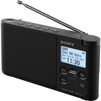 SONY XDR-S41D Portable DAB+/FM Clock Radio - Black