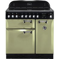 RANGEMASTER  Elan 90 Electric Induction Range Cooker   Olive Green   Chrome  Olive