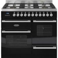 BRITANNIA Delphi 100 XG Dual Fuel Range Cooker - Gloss Black & Stainless Steel, Stainless Steel