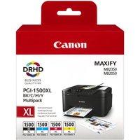 CANON PGI-1500XL Black & Colour Ink Cartridges - Multipack, Black