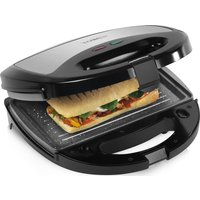 TOWER T27008 3-in-1 Sandwich Toaster - Black & Grey, Black
