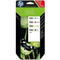 HP 940XL Cyan, Magenta, Yellow & Black Ink Cartridges - Multipack, Cyan