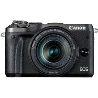 CANON EOS M6 Mirrorless Camera with 18-150 mm f/3.5-6.3 Wide-angle Zoom Lens - Black, Black